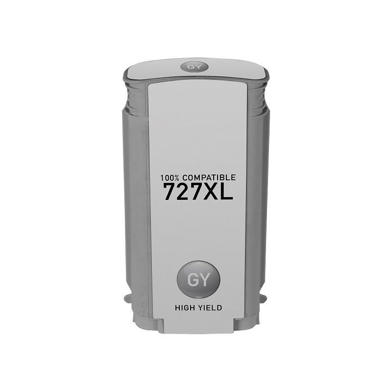 Tinteiro Compatível HP N727XL Cinzento
