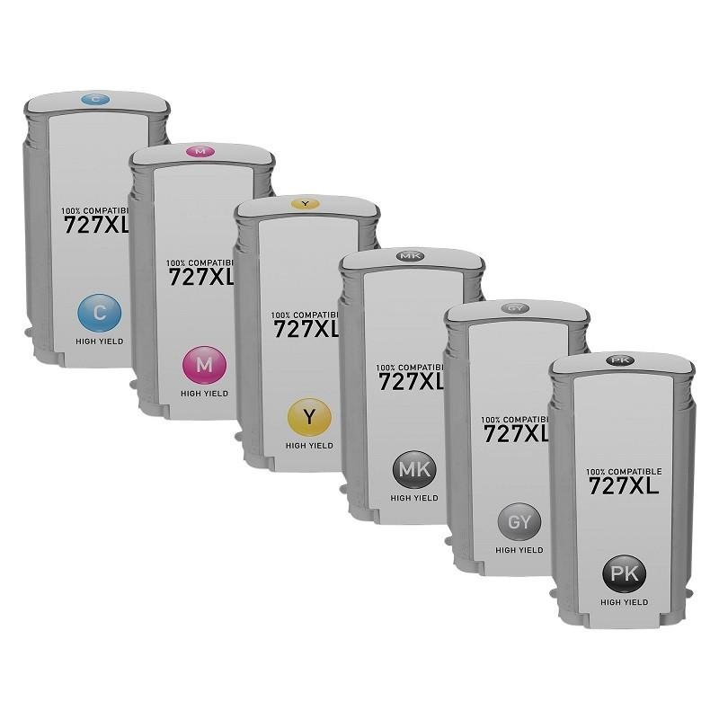 Pack 6 Tinteiros Compatível HP N727XL