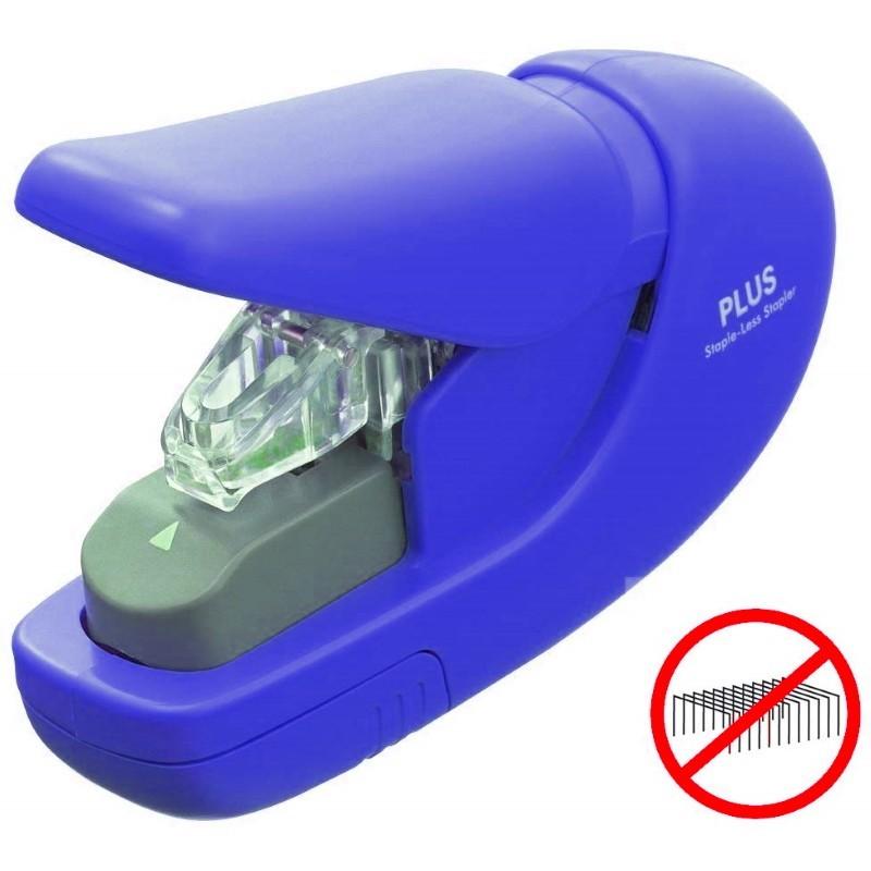 Agrafador sem agrafes Flat-Clinch Azul