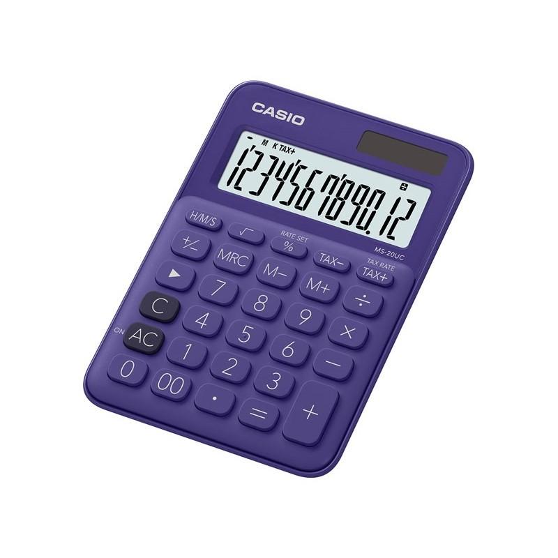Calculadora de Secretária Casio MS20UCPL Roxo 12 Dígitos