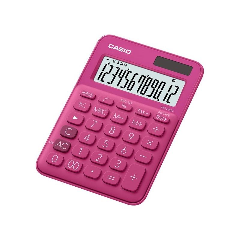 Calculadora de Secretária Casio MS20UCRD Vermelho 12 Dígitos