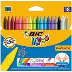 Lápis de Cera Bic Kids Plastidecor 18 Cores