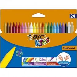 Lápis de Cera Bic Kids Plastidecor 24 Cores